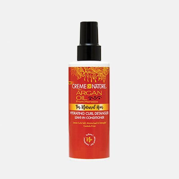 Creme Of Nature Argan for Natural Hair Hydrating Curl Detangler Leave-In Conditioner 5.1oz