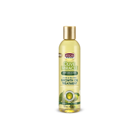 African Pride Olive Miracle Anti-Breakage Maximum Strengthening Growth Oil 8 oz