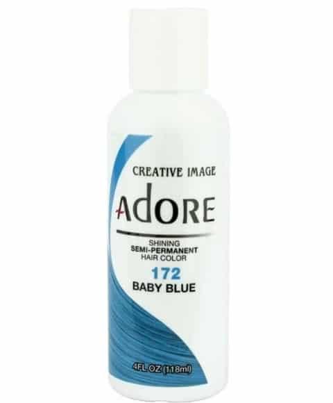 Adore Baby Blue 172 Semi-Permanent Hair Colour 4oz