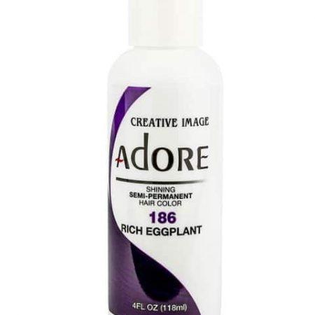 Adore Rich Eggplant 186 Semi-Permanent Hair Colour 4oz