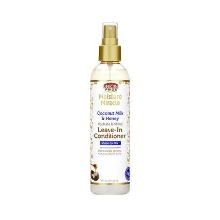 AFRICAN PRIDE MOISTURE MIRACLE COCONUT MILK & HONEY LEAVE-IN CONDITIONER 8OZ