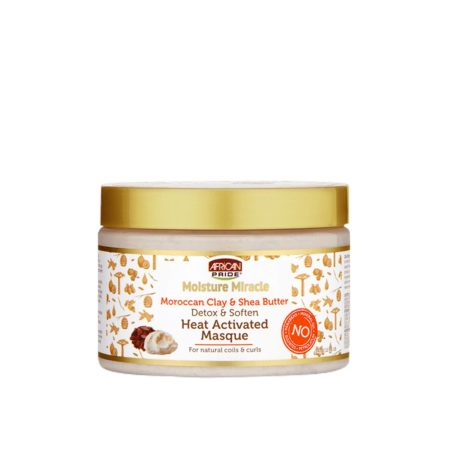 African Pride Moisture Miracle Moroccan Clay & Shea Butter Masque 12oz