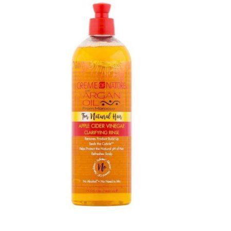 Creme Of Nature Argan Oil Apple Cider Vinegar Clarifying Rinse 15.5oz