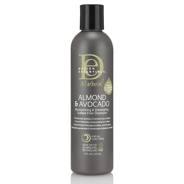 Design Essentials Almond & Avocado Moisurizing & Detangling Sulfate Free Shampoo