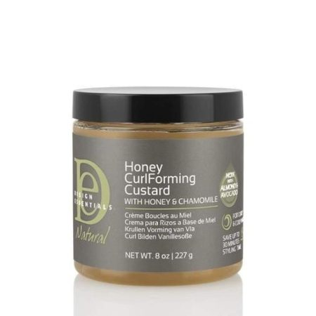 Design Essentials Almond & Avocado Curl Forming Custard with Honey & Chamomile 8oz
