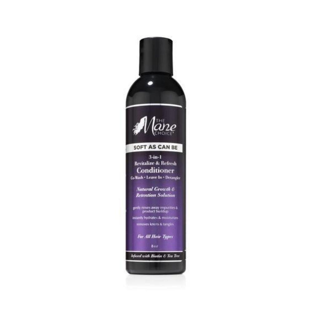 The Mane Choice Soft As Can Be Revitalize & Refresh 3-in-1 Co-Wash, Leave In, Detangler 8oz