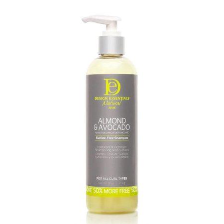 Design Essentials Almond & Avocado Moisturising & Detangling Sulphate Free Shampoo 8oz