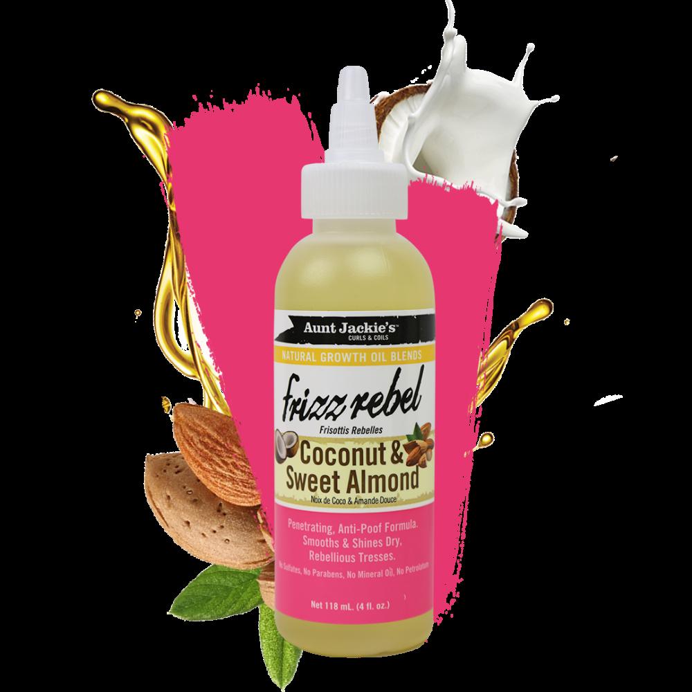 Aunt Jackies Frizz-Rebel Coconut & Almond Oil 4oz