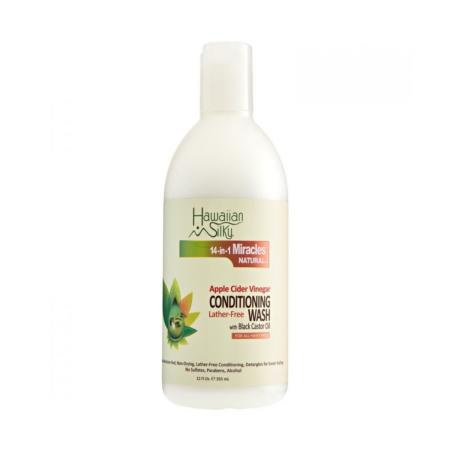 Hawaiian Silky Apple Cider Vinegar Lather-Free Conditioning Wash (Co-Wash) 12oz