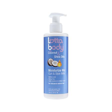 LottaBody Coconut & Shea Oils Moisturise Me Curl & Style Milk 8oz