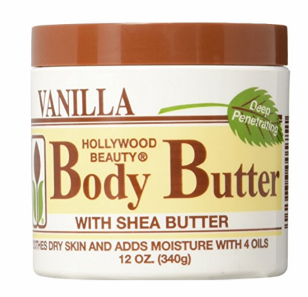 Hollywood Beauty Vanilla Body Butter with Shea Butter 12oz