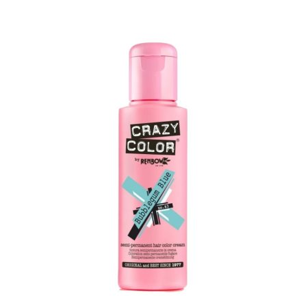 Crazy Color Semi Permanent Hair Colour Cream Bubblegum Blue 100ml