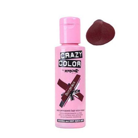 Crazy Color Semi Permanent Hair Colour Cream Bordeaux 100ml