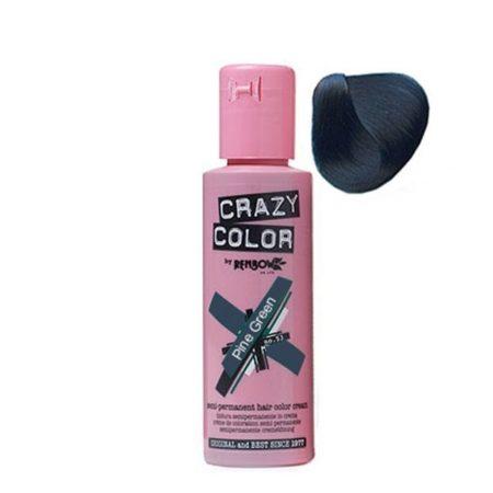 Crazy Color Semi Permanent Hair Colour Cream Pine Green 100ml