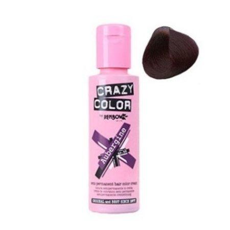 Crazy Color Semi Permanent Hair Colour Cream Aubergine 100ml