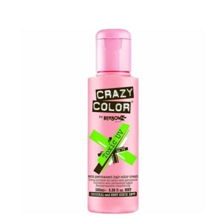 Crazy Color Semi Permanent Hair Colour Cream Toxic UV 100ml