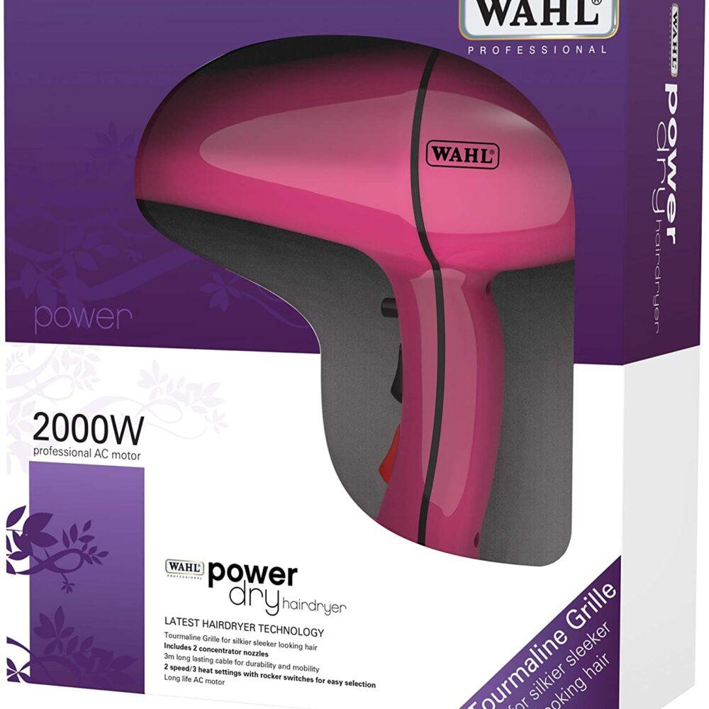 Wahl 2000w Powerdry Pink Hairdryer