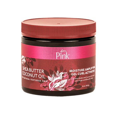 Pink Shea Butter & Coconut Oil Moisture Amplfying Gel Curl Activator 16oz